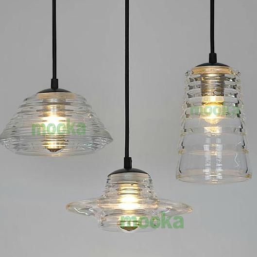 Tom Dixon Pressed Glass Pendant Lamp Mooka Modern Furniture