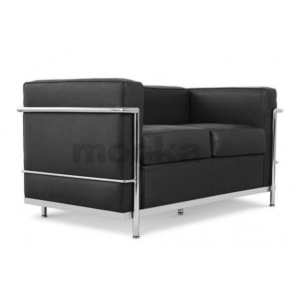 le corbusier lc2 sofa 2 seater mooka modern furniture. Black Bedroom Furniture Sets. Home Design Ideas