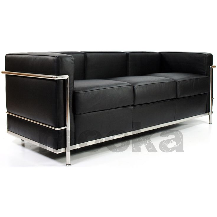 Le corbusier lc2 sofa 3 seater mooka modern furniture for Le corbusier lc2