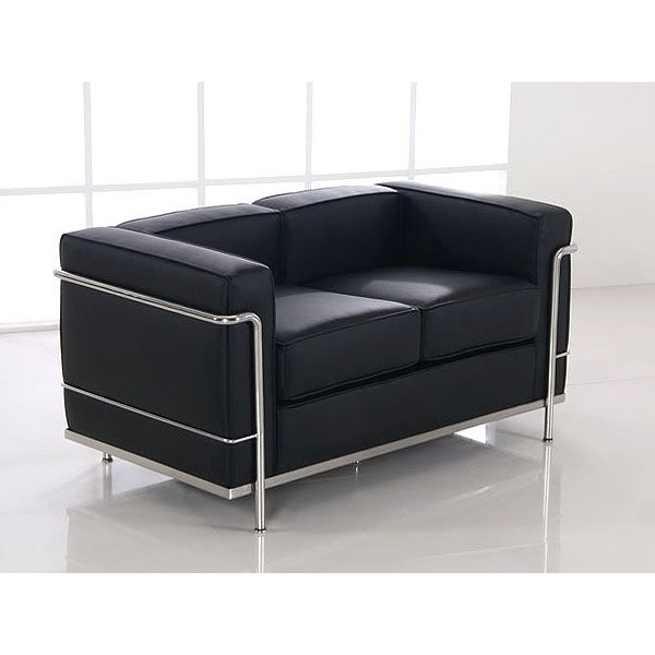 le corbusier lc2 sofa 2 seater mooka modern furniture. Black Bedroom Furniture Sets. Home Design Ideas
