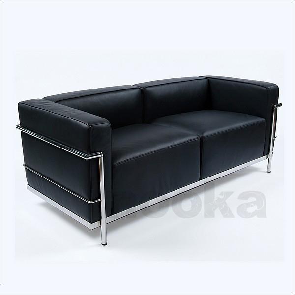 le corbusier lc3 sofa 2 seater mooka modern furniture. Black Bedroom Furniture Sets. Home Design Ideas