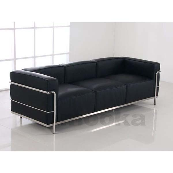le corbusier lc3 sofa 3 seater mooka modern furniture. Black Bedroom Furniture Sets. Home Design Ideas