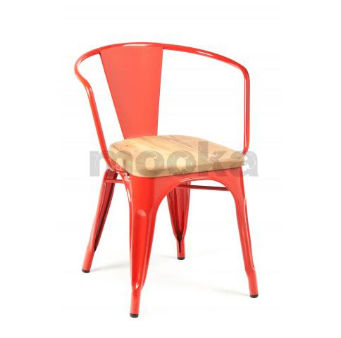 Tolix Marais Armchair Wood Seat Mooka Modern Furniture