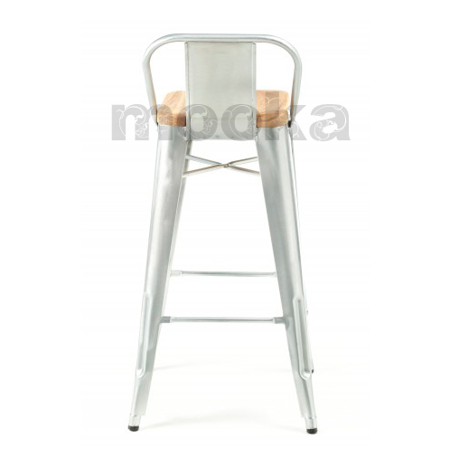 Tolix wide back barstool mooka modern furniture - Tolix low back bar stool ...