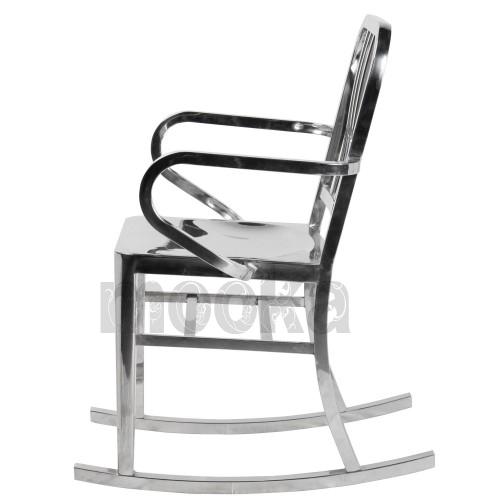 Navy rocking chair mooka modern furniture