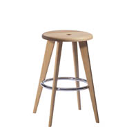 Solid beech wood Bar stool middle