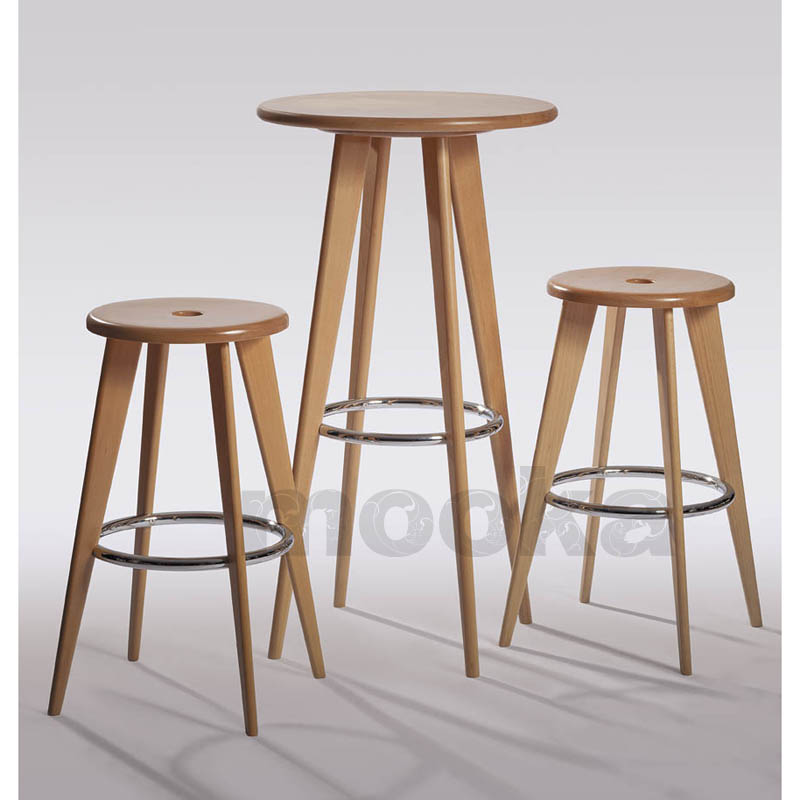 Solid Wood Bar Stools ~ Solid beech wood bar stool middle mooka modern furniture