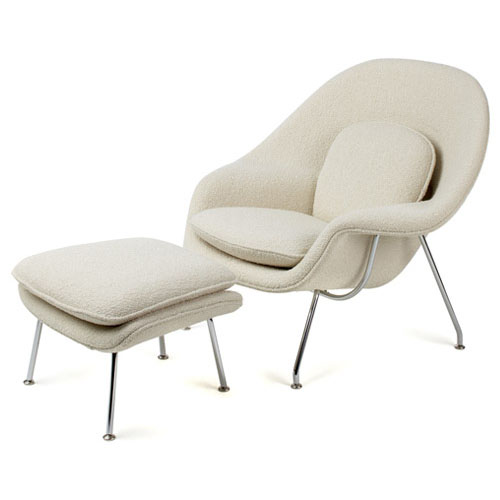 Womb Chair With Ottoman Mooka Modern Furniture