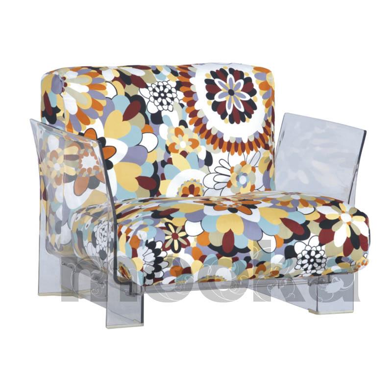 Missoni Fabric Covered Bergere Chair: Pop Seater Missoni Fabrics Sofa-MOOKA MODERN FURNITURE