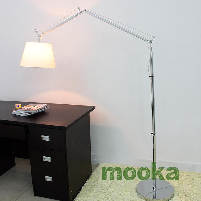 Loading Zoom, Please Wait Artemide Tolomeo Mega Floor Lamp ,(Parchment  Paper Or Fabric)