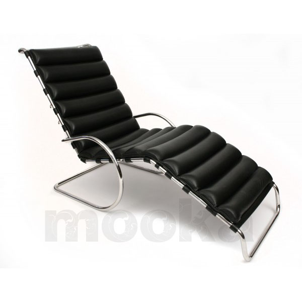 Mr adjustable chaise longue mooka modern furniture for Modern leather chaise longue