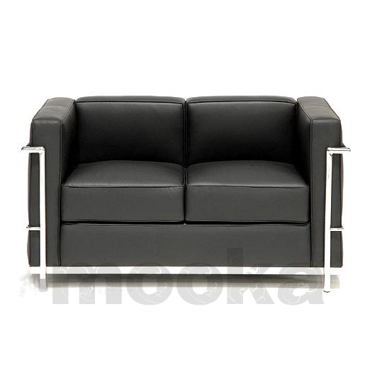 Le corbusier lc2 sofa 2 seater mooka modern furniture for Le corbusier lc2 nachbau