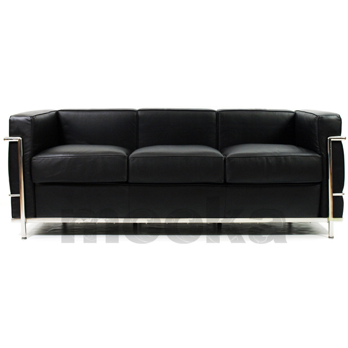 Le corbusier lc2 sofa 3 seater mooka modern furniture for Le corbusier lc2 nachbau