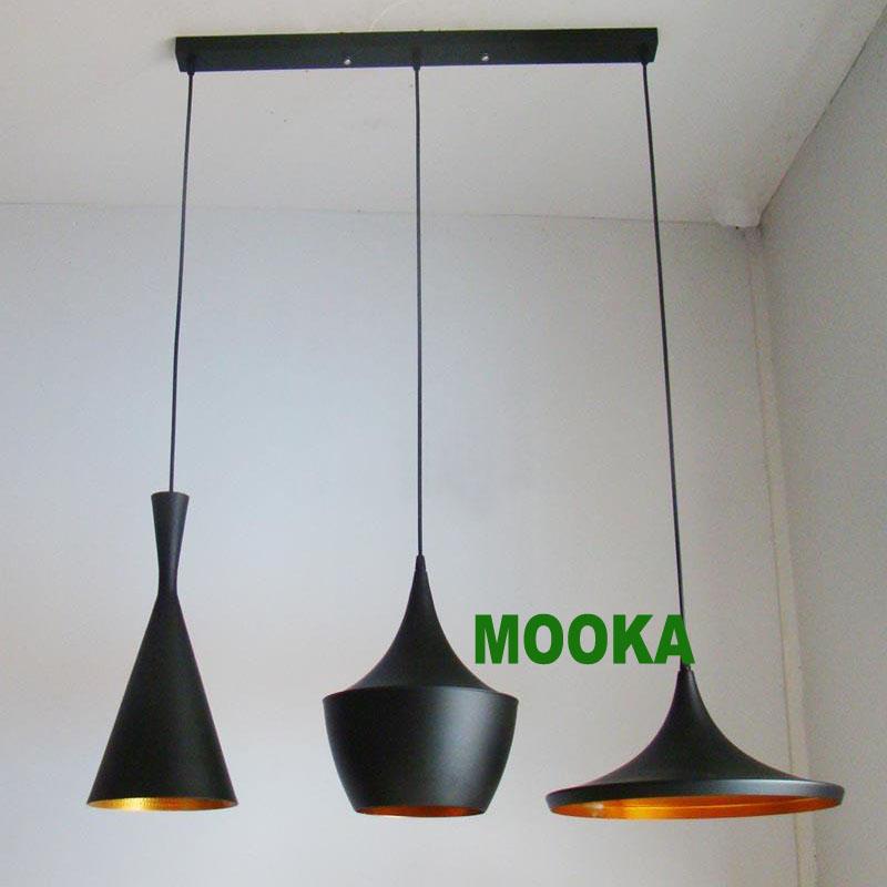 Tom Dixon Beat Elongated Combination Pendant Lamp Mooka