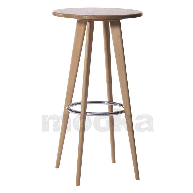 Solid Wood Bar Stools ~ Solid beech wood bar stool high mooka modern furniture